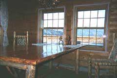 View of the Tetons from the dining room